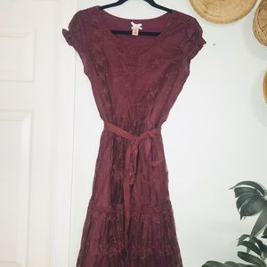 Down East Maroon Dress